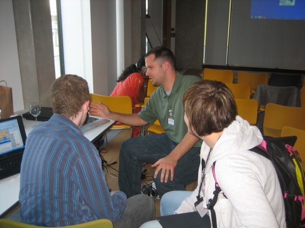 Photo of Charlie Greenbacker giving a demonstration during the 2011 SLPAT workshop